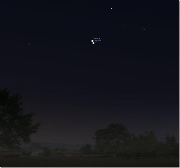 Conjuncion de Venus y Jupiter–Julio 2015
