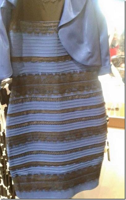 Vestido dorado marron azul blanco