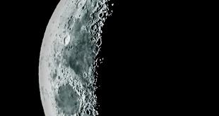 Luna en fase desde latitud 34S